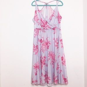 ASOS Floral Racerback Pleated Midi Dress - 14